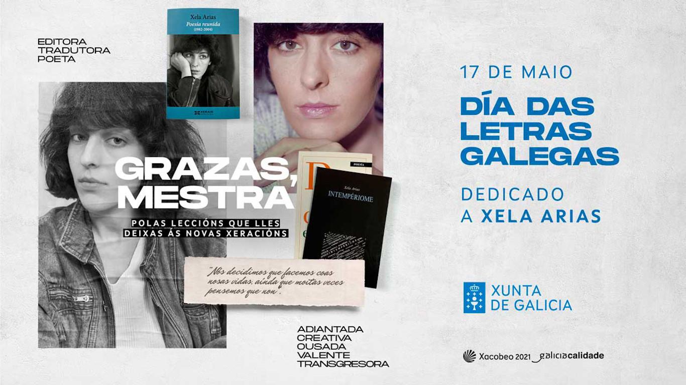Letras Galegas 2021, homenaxe a Xela Arias